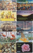 LOTE DE 150 TARJETAS DIFERENTES DE BRASIL DE FLORES,PINTURA,PAISAJES, ETC. - Colecciones