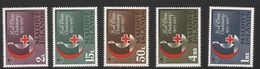 1963 Maldives Red Cross Health Complete Set Of 5   MNH - Maldives (1965-...)