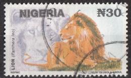 615E Nigeria 1992-1993 Leone Lion Felini Use - Nigeria (1961-...)