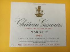 5294 - Château Giscours 1984 Margaux - Bordeaux