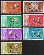 1966 Maldives World Cup Football ENGLAND WINNERS! Complete Set Of 7  MNH - Maldives (1965-...)