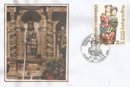 ANDORRA. Eglise Romane St Jean De Sispony (Sculpture Vierge De Sispony)  Lettre FDC 1976 - Cristianesimo