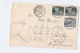 1936 Starogard POLAND COVER Stamps REDIRECTED - 1919-1939 Republic