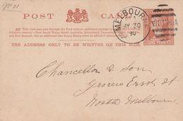 Victoria Entier Postal 1890 - 1850-1912 Victoria