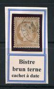 FRANCE- Y&T N°55- Bistre Brun Terne- Cachet à Date - 1871-1875 Ceres