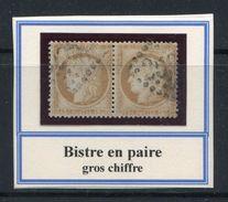 FRANCE- Y&T N°55 En Paire- Gros Chiffre - 1871-1875 Ceres