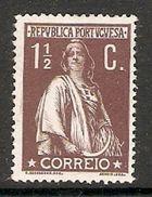 001295 Portugal 1912 Ceres 1 1/2c MH - 1910-... Republic