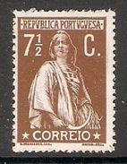 001297 Portugal 1912 Ceres 7 1/2c MH - 1910-... Republic