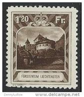 Liechtenstein  1930   Sc#105   1.20fr  MH*   2016 Scott Value $125 - Unused Stamps