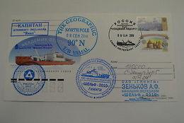 Russia Arctic Yamal Icebreaker North Pole 90º Cachet Card Ship 2010 - Unclassified