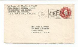United States Scott # UC9   APO 554 (752) France 6/261945. - Lettres & Documents