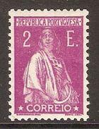 001317 Portugal 1930 Ceres 2E MH - 1910-... Republic