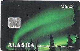 Alaska - Northern Lights - 26.25$, SC7, 03.1994, 5.000ex, Mint - Phonecards