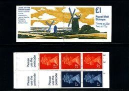 GREAT BRITAIN - 1990  £ 1  BOOKLET  MILLS  3  MINT NH  SG FH 21 - Libretti