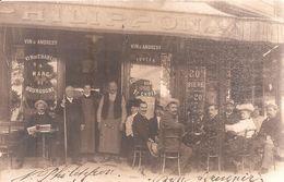 Carte Dédicacée De La Devanture Du Café De L' Aviation De Mr Philipon à Issy Les Moulineaux . Villiers Sur Marne . - Issy Les Moulineaux