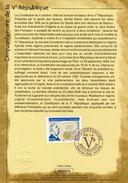 """Encart 1er Jour De 2008 """" CHARLES DE GAULLE / 50 ANS DE LA Vème REPUBLIQUE """" N° YT 4282. Voir Les 2 Scans. - De Gaulle (General)"""