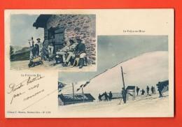MNV-21 Le Col Du Fréjus En Hiver Et En été Cabane. TRES ANIME.  Cachet 1911 - Francia