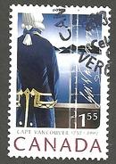Sc # 2219 Captain Geo. Vancouver, Captain/Signiture HV International Rate Single Used 2005 K643 - 1952-.... Règne D'Elizabeth II