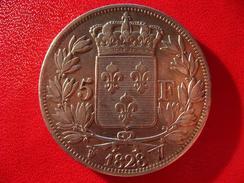 5 Francs Charles X 1828 W Lille 3150 - J. 5 Francos