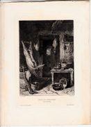 STAMPA ANTICA -Servin Pinx_PUITS DE CHARCUTIER--ORIGINALE- - Prints & Engravings