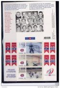 Canada, 2009, # 2340, , S/S, 100th Anniversary Of  The Canadians Of Montreal, 3.00$ Stamps, Lenticular , 3 Stamps - Blocs-feuillets