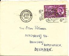 Great Britain Cover Sent To Denmark Southampton 20-9-1963 Single Franked - [7] République Fédérale