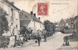 ---- 02 ---- MONTHIERS La Poste -TB(petits Défauts) - Other Municipalities