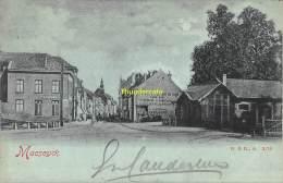 CPA  MAASEIK MAESEYCK HOTEL RESTAURANT DU TRAIN CAFE DU TRAM TRAMSTATION 1900 - Maaseik