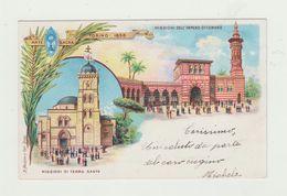 ARTE SACRA TORINO 1898 - CARTOLINA - MISSIONI IMPERO OTTOMANO -VIAGGIATA Affrancata Due Centesimi E Un Centesimo Regno - Missioni