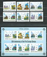 Laos 2005 The 50th Anniversary Of Europa Stamps 2006.stamps And S/S.  Imperforate.   MNH - Laos