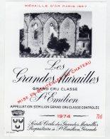 Les Grandes Murailles 1974 - St Emilion - Bordeaux