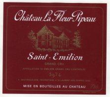 Chateau La Fleur Pipeau 1974 - St Emilion - Bordeaux
