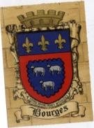 18 BOURGES - Armes De La Ville, Blason, Héraldisme, à Plat Or Et Argent - CPSM N° 1317 F Barré-Dayez - Bourges
