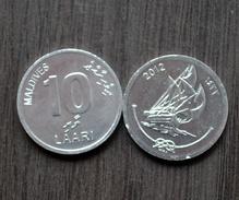 MALDIVES MALEDIVEN  10 Laari 2012 KM75 UNC COIN CURRENCY ASIA > Sailing Ships - Maldives