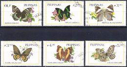 Philippines 1984 - Butterflies ( Mi 1588/93 - YT 1379/84 ) Complete Series - Filippine