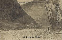 1912-1918- C P E P 1 Ct    - La Poste En CHINE ( Chinese Mail )  SETCHOUEN - ( Mail Coach Above The River ) - Chine