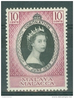 Malaya - Malacca: 1953   Coronation     MH - Malacca