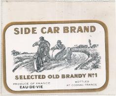 étiquette - 1920* - Side Car Brandy Eau De Vie - Oldtimers
