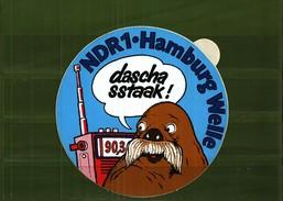 "Autocollant  -     Radio 90,3   NDR1 - HAMBURG WELLE  ""Dascha Sstaak""!) - Autocollants"