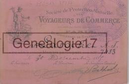 75 17 036 PARIS SEINE 1883 Carte Professionnelle LAROCHE Voyageurs De Commerce ( Representant Voyageur ) - Visiting Cards