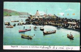 TENERIFE- ISLAS CANARIAS-ESPANA - Original CPA 1907 Despedida De S.MALFONSO XIII- Recto Verso -Paypal Free - Tenerife