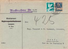 No 160  Et 185 ( Pli Sur 185 ) Sur Lettre : Richteramt Laupen Kt.Bern -  Oblitérée Laupen Le 18.11.33 - Suisse