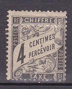 N° 13 Taxes Type Duval  4 Centimes Noir  à Precevoir Timbre Neuf Sans Charnière Gomme D'origine - 1859-1955 Mint/hinged