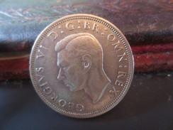 HALF CROWN - 1942- TTB+ -   VOIR PHOTOS - 1902-1971 : Monedas Post-Victorianas