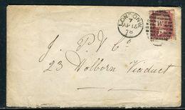 Grande Bretagne - Enveloppe De Londres En 1878 - Ref S12 - 1840-1901 (Regina Victoria)