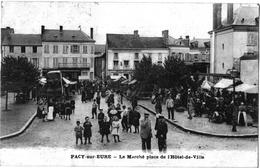 Pacy Sur Eure Marché Boutiques Hôtel St Lazare Grosse Animation 1922 ÉTAT SUPERBE TOP - Pacy-sur-Eure