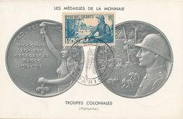 D31596 CARTE MAXIMUM CARD 1953 FRANCE - POUR NOS SOLDATS SOLDIERS GREAT WAR - OBL. SALON D'ARMEE CP ORIGINAL - Guerre Mondiale (Première)