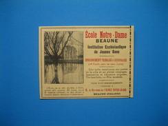 (1913) École Notre-Dame - Institution Ecclésiastique De Jeunes Gens - Beaune (Côte-d'Or) - Vieux Papiers