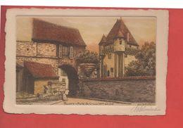 2131 - NEVERS - Porte De Croux - XIV Siècle - Eau Forte Originale - G. Schlumberger - Recto-verso) - Nevers