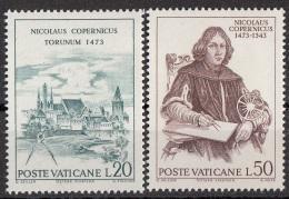 540 Vaticano 1973 Copernico Copernicus Astronomo Astrologo  Torunum Torun MNH - Astrologia
